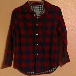 Wonder Nation red & blue checked button down shirt